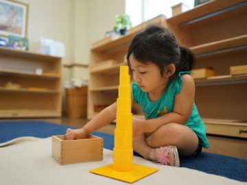 small kid learning block building game