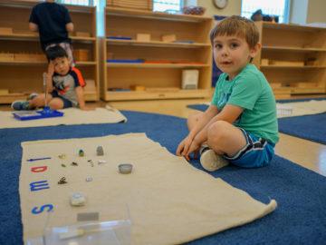 small kids learning farming process