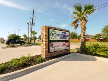 our cypress montessori school sign board