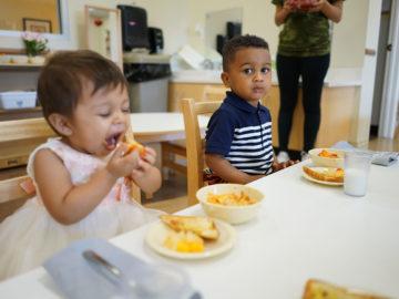 kids having snacks